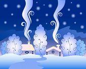 Freezing winter night