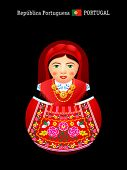 Matryoshkas of the World: portuguese girl in Minho Province dress