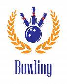 Bowling elements in laurel wreath