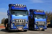 Two Volvo FH13 Trucks