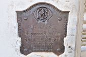 Plaque In The Alte Feste, Windhoek