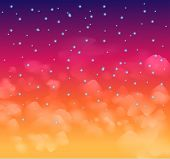 A magical Nigh sky with stars and delecate clouds. Idea for Chsritmas background and festive posters