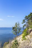 Romantic Steep Cliff With Lake