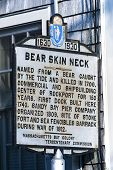 Historic Bear Skin Neck Welcome Sign