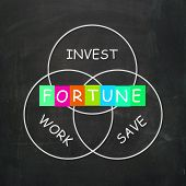 Fortune Comes From Work Save And Investing