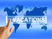 Vacations Map Means Online Planning Or Worldwide Vacation Travel