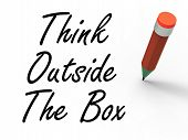 Think Outside The Box Means Creativity And Imagination