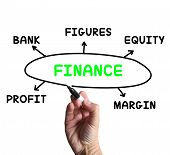 Finance Diagram Means Figures Equity And Profit