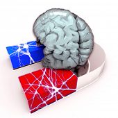 Human Brain and Magnet - Brain strength