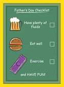 Father's Day Checklist
