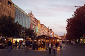 Wenceslas Square by evening