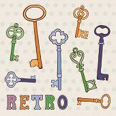Retro keys collection