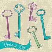 Collection of retro keys