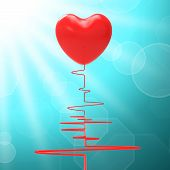 Heart On Electro Means Healthy Relationship Or Passionate Marria