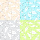 Cranes. Origami