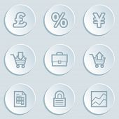 E-business web icons, white sticker buttons