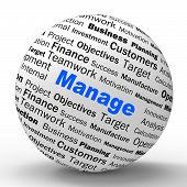 Manage Sphere Definition Means Business Administration Or Develo