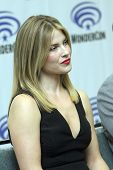 APRIL 19-ANAHEIM, CA: Ali Larter attnds a press conference at the 2014 Annual Wondercon press room f