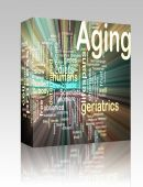 Aging Word Cloud Glowing Box Package