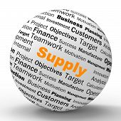 Supply Sphere Definition Shows Goods Provision Or Product Demand
