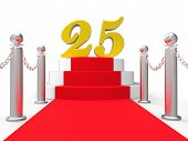 Golden Twenty Five On Red Carpet Shows Twenty Fifth Anniversary