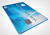 blue modern credit card