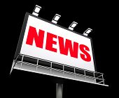 News Sign Represents Newspaper Articles And Headlines Or Media I