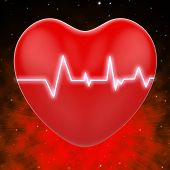 Electro On Heart Shows Heart Pressure Or Extreme Passion