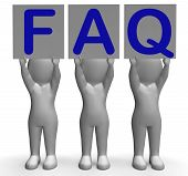 Faq Banners Shows Frequent Assistance And Support