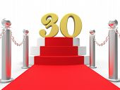 Golden Thirty On Red Carpet Shows Film Industry Anniversary Even