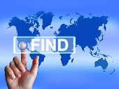 Find Map Indicates Internet Or Online Discovery Or Hunt
