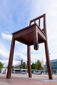 Geneva Broken Chair In Front Of The United Nation Building - Peace Symbol - Switzerland