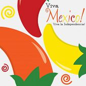Viva Mexico (independence Day) Card In Vector Format.