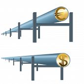 Monetary oil pipe
