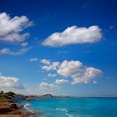 Denia las Rotas and Marineta Casiana beach at alicante Valencia Province of Spain