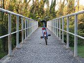 Bicycle On A Bridge
