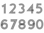Tire Tread Number Set