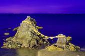 Meoto Iwa Rocks, Futami, Mie Prefecture, Japan. Known in  English as the