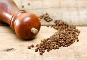Pepper Grinder And Pepper Grains