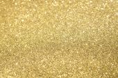 stock photo of gold glitter  - Gold Glitter with Selective Focus 2 - JPG