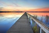 Sunset At Long Jetty Tuggerah Lake Nsw Australia