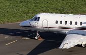 Hawker 900XP business jet on the parking