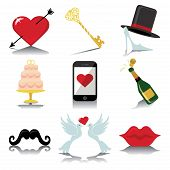 foto of wedding feast  - Vector Design wedding icons for Web and Mobile - JPG