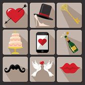 Design Wedding  Icons For Web And Mobile.vector