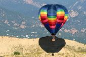 Hot Air Ballooning Rocky Mountain Landscape