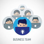 Business team emblem
