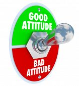 Good vs Bad Attitude Words Toggle Switch Change Mood Positive