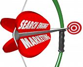 Search Engine Marketing SEM Words Bow Arrow Targeting Online Customers