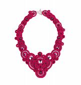 Beautiful handmade pink necklace.