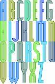 Poster retro colorful geometric decorative striped font.